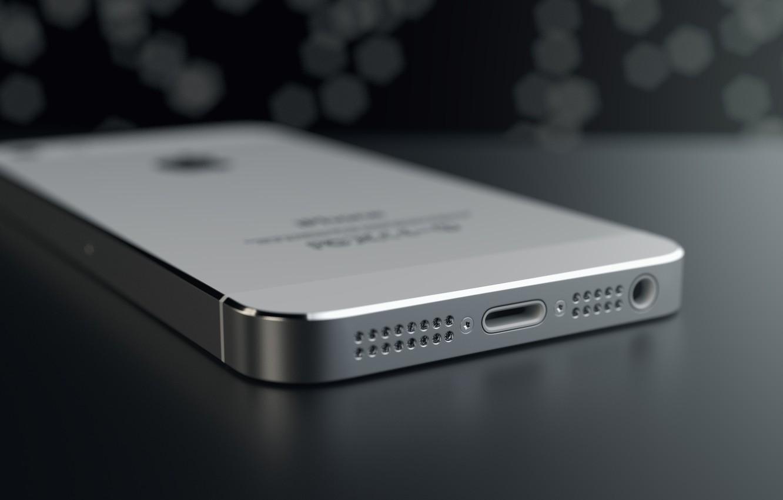 Фото обои Apple, Iphone, Rendering, Silver, Macro