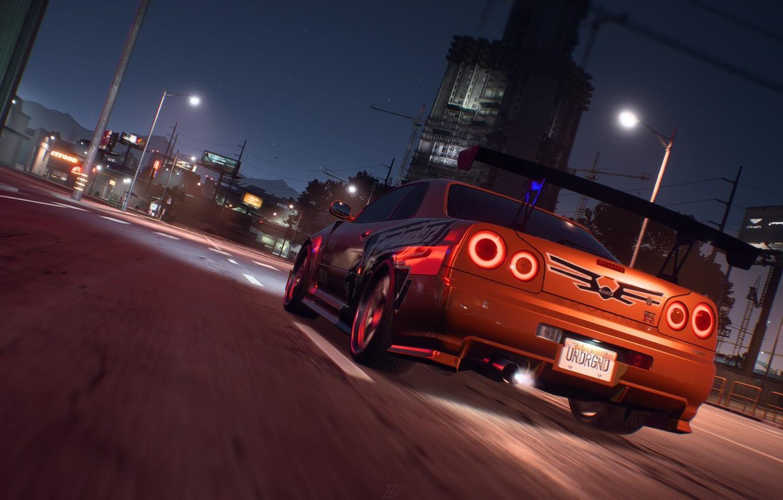 Фото обои Nissan, NFS, Skyline, Electronic Arts, R34, Need For Speed, Need For Speed Payback