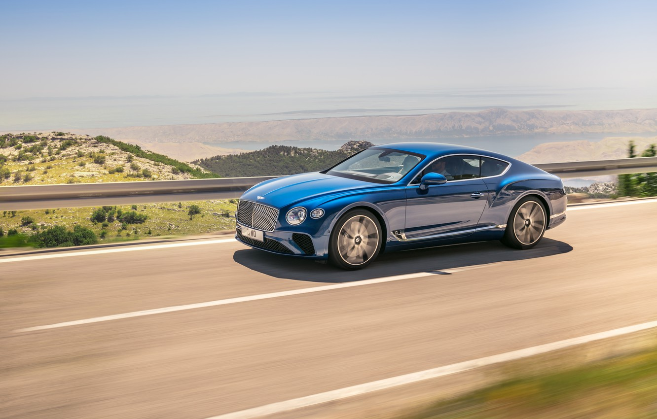 Фото обои Bentley, Continental GT, Blue, Coupe, 2017