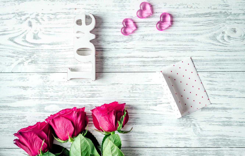 Фото обои любовь, цветы, розы, букет, сердечки, красные, red, love, wood, flowers, romantic, hearts, Valentine's Day, gift, ...
