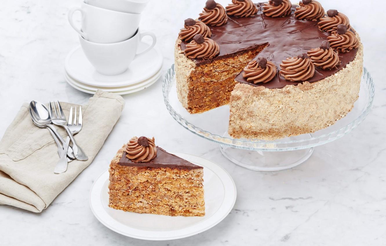 Фото обои торт, крем, кусок