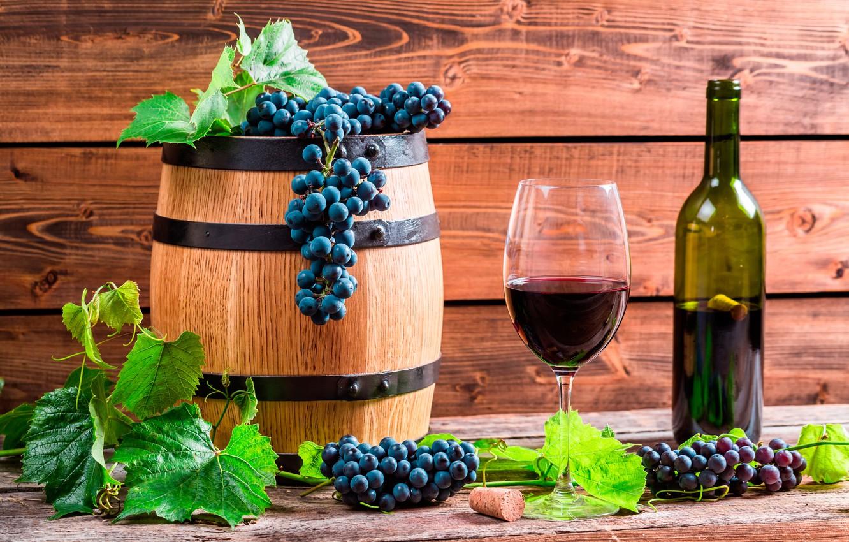 Обои красное, бокалы, виноград, бутылка, вино, доска. Еда foto 7