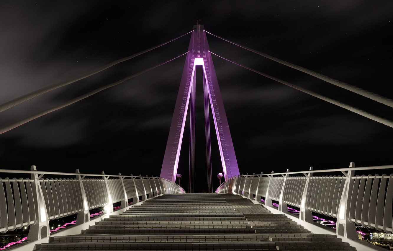 Фото обои Taiwan, Taipei, purple bridge