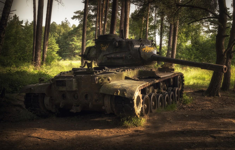 Фото обои оружие, танк, лом, M47