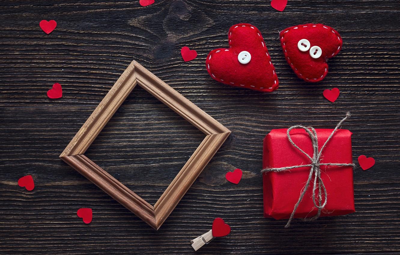 Фото обои любовь, подарок, сердце, сердечки, red, love, heart, wood, romantic, Valentine's Day, gift, decoration