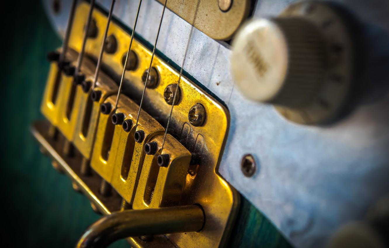 Фото обои макро, фон, гитара