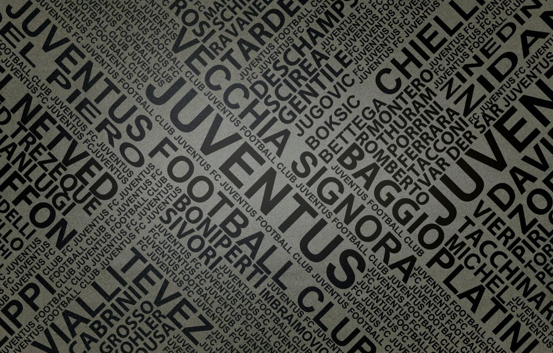 Фото обои буквы, газета, footbal, имена, juventus by fernan