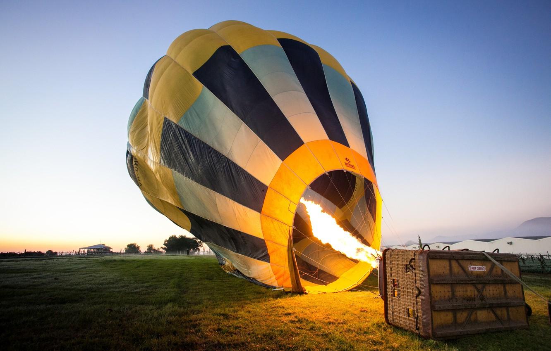 Обои воздушный шар, корзина. Авиация foto 18