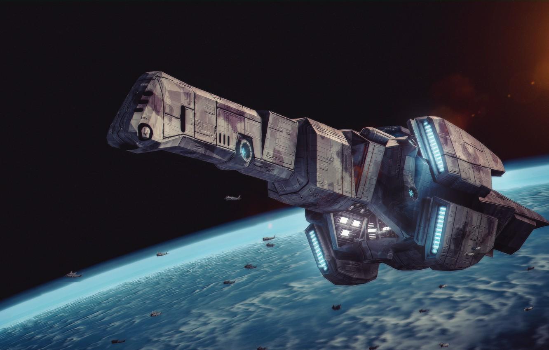 Oboi Kosmos Zvezda Planeta Kosmicheskij Korabl Spaceship