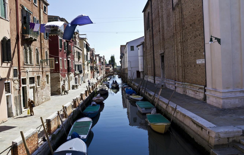 Обои Venezia, venice, italy, катер, канал, дома, венеция. Города foto 9