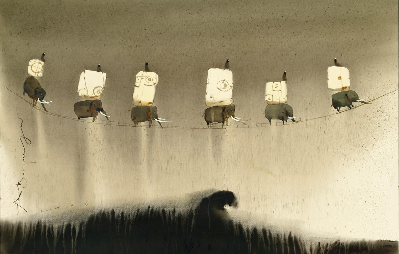 Фото обои слоны, Шесть, Аруш Воцмуш