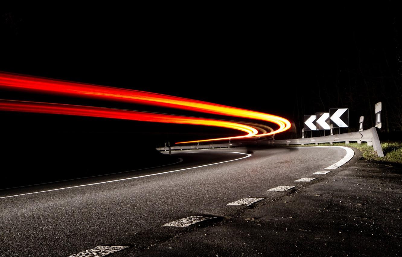 Обои дорога, ночь, огни. Разное foto 8