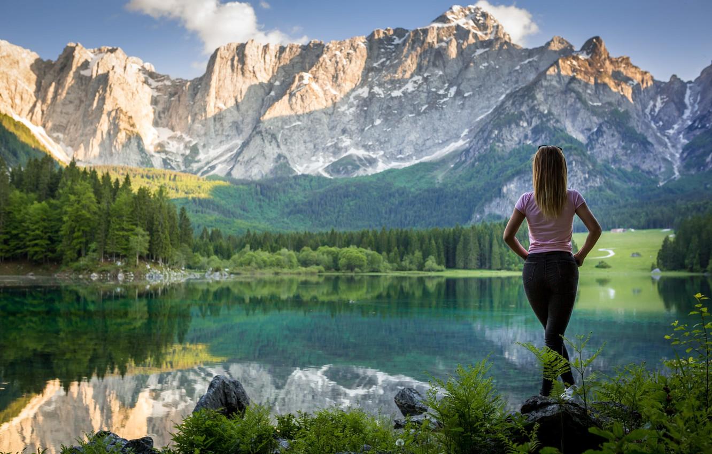 Красивые картинки пейзажа с девушками