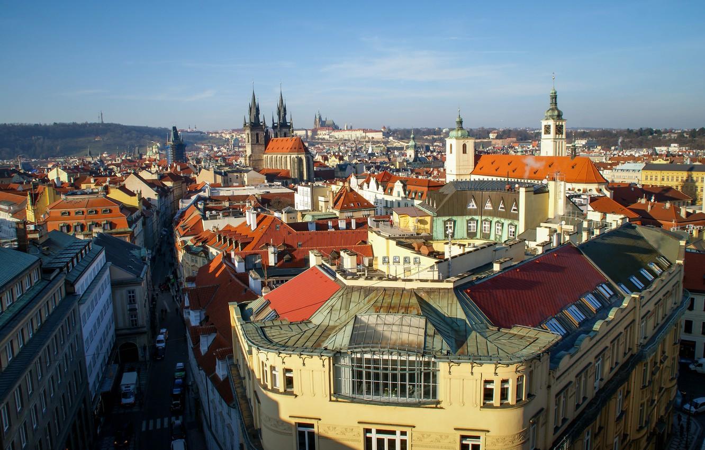 Фото обои небо, city, город, фото, улица, вид, дома, Прага, Чехия, красиво, архитектура, путешествие, photo, улицы, Europe, …