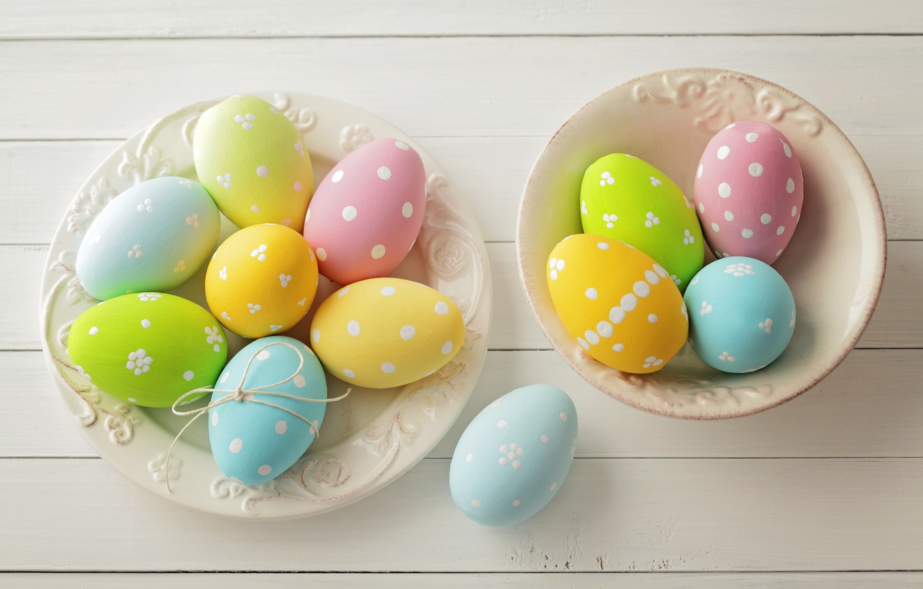 Фото обои Пасха, spring, Easter, eggs, Happy, pastel, яйца крашеные