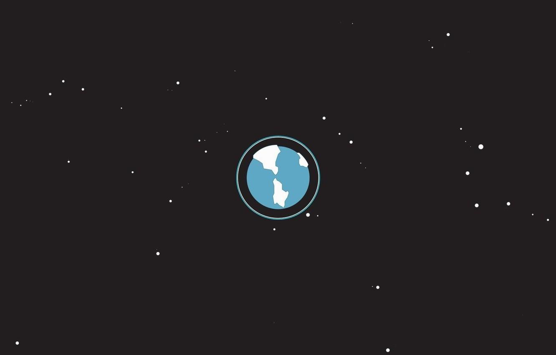 Фото обои космос, планета, звёзды, материки, океаны