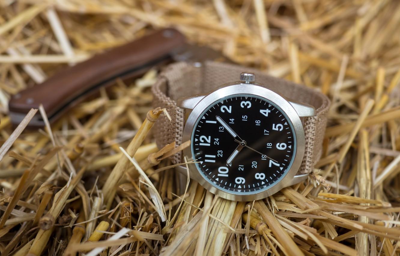 Фото обои часы, сено, циферблат