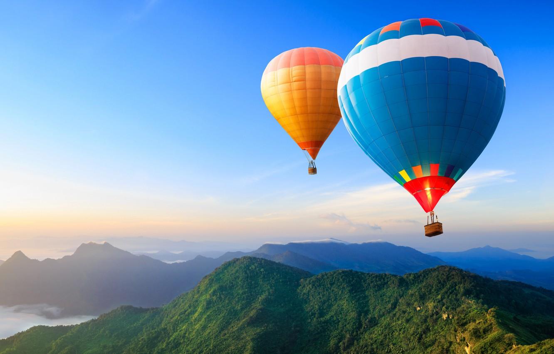 Обои Облака, Пейзаж, воздушный шар. Авиация foto 6