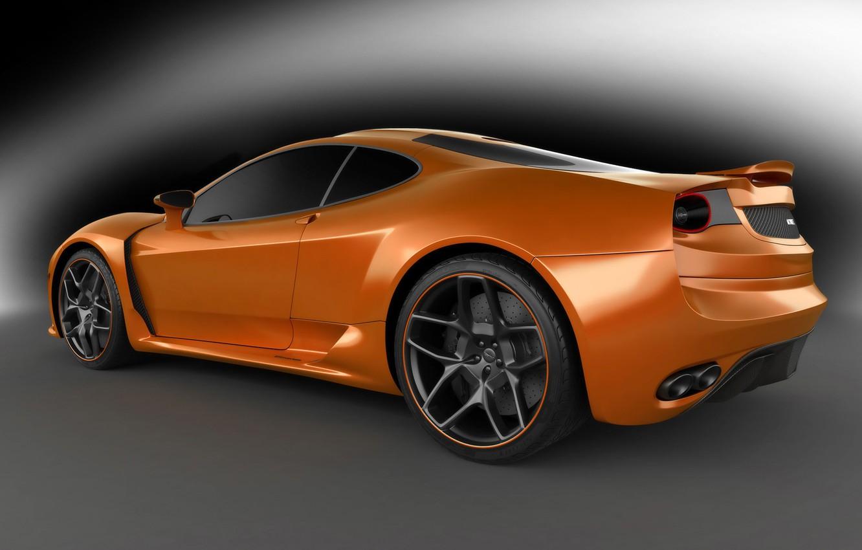 Фото обои серебристый, Ferrari F430, ferrari, серый фон, orange, вид с боку, Novitec Rosso, novitec-tulesto, оттенки серого