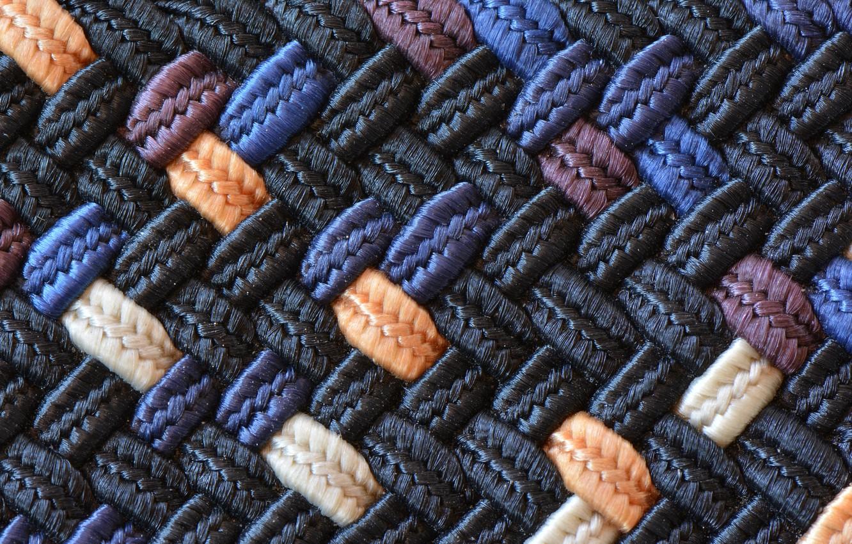 Фото обои макро, ткань, плетение