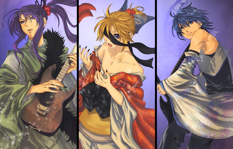 Фото обои коллаж, Vocaloid, Вокалоид, персонажи