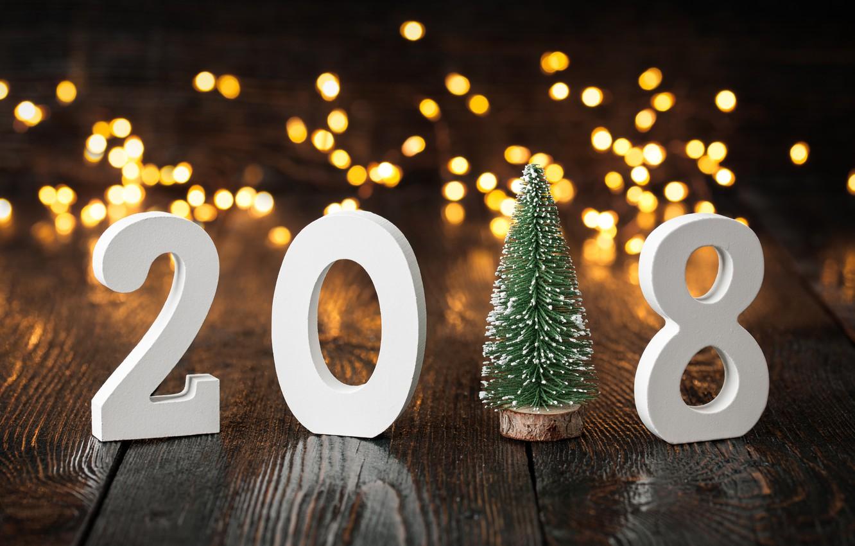 Фото обои праздник, елка, Новый год, елочка, 2018, New Year