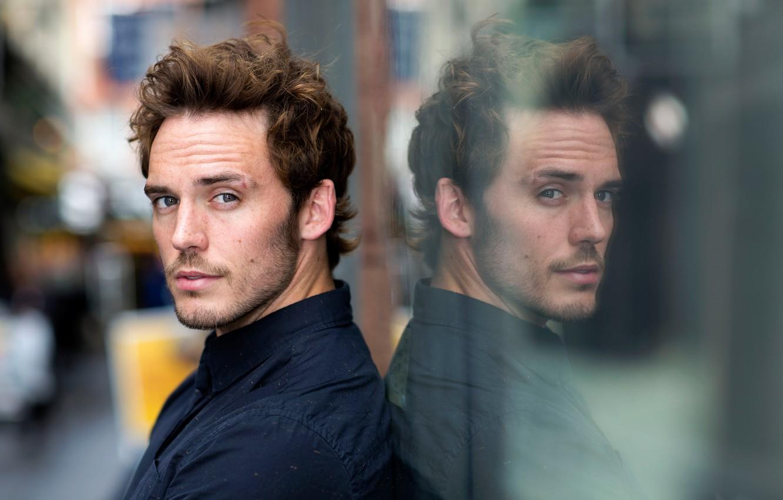 Фото обои отражение, актер, Sam Claflin