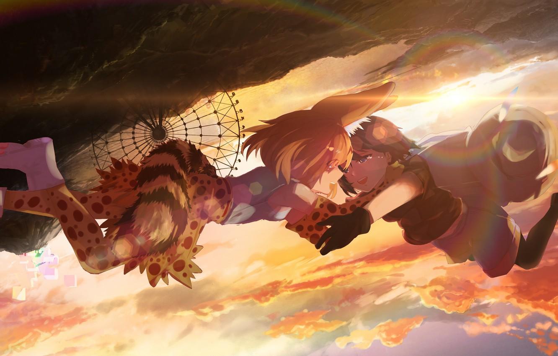 Фото обои девочки, аниме, арт, Kemono Friends