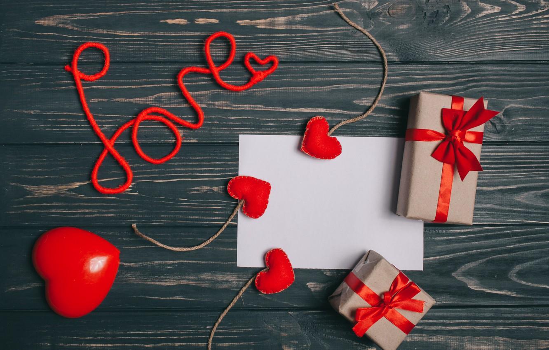 Фото обои письмо, любовь, подарок, Сердечки, Праздник, День влюбленных
