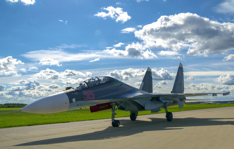 Обои Sukhoi, Su-30sm, истребитель, многоцелевой. Авиация foto 6