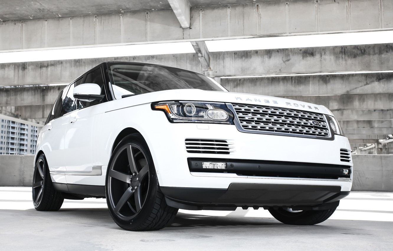 Фото обои wheels, Range Rover, black, with, Vossen, roof, gloss, lowered, HSE, wrapped
