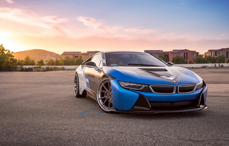 Фото обои car, bmw, white, blue