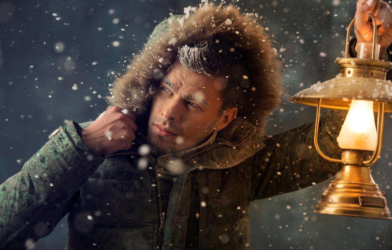 Картинки мужик зимой