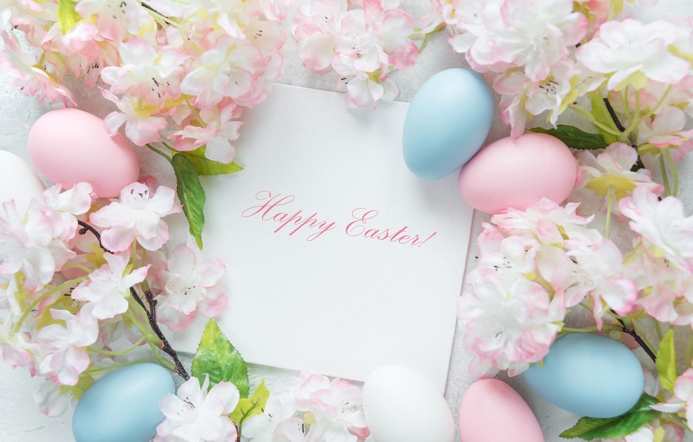 Фото обои цветы, Пасха, flowers, spring, Easter, eggs, Happy