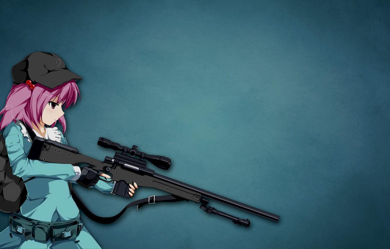 Фото обои gun, hitman, weapon, anime, sniper, assassin, asian, japanese, bishojo, Sniper Girl