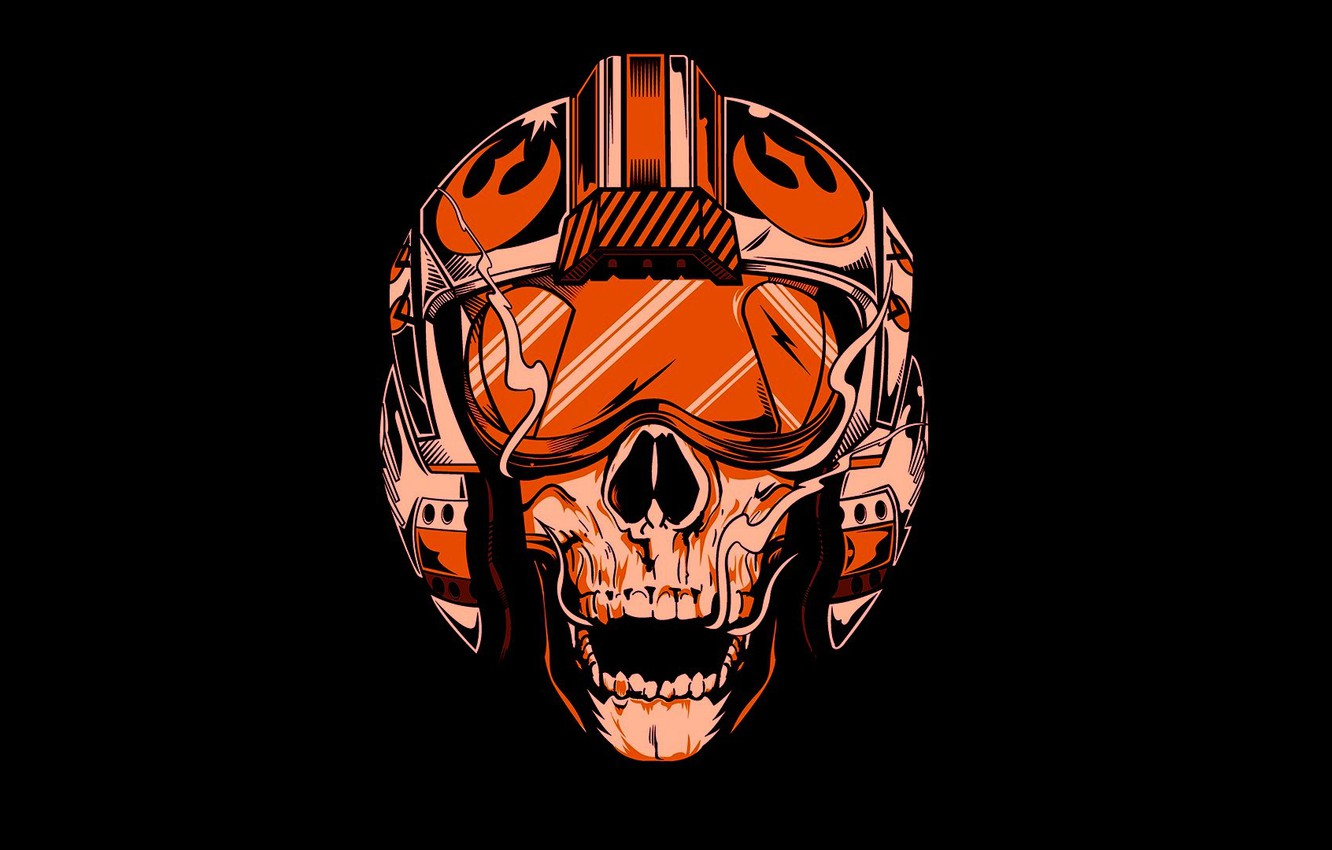 Фото обои Star Wars, skull, logo, death, pilot, helmet, Rebel Alliance, SW, fighter pilot, Alliance for Restoration …