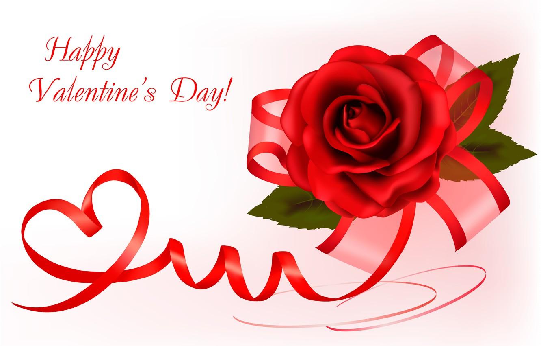 Фото обои любовь, праздник, надпись, роза, бант, день влюбленных