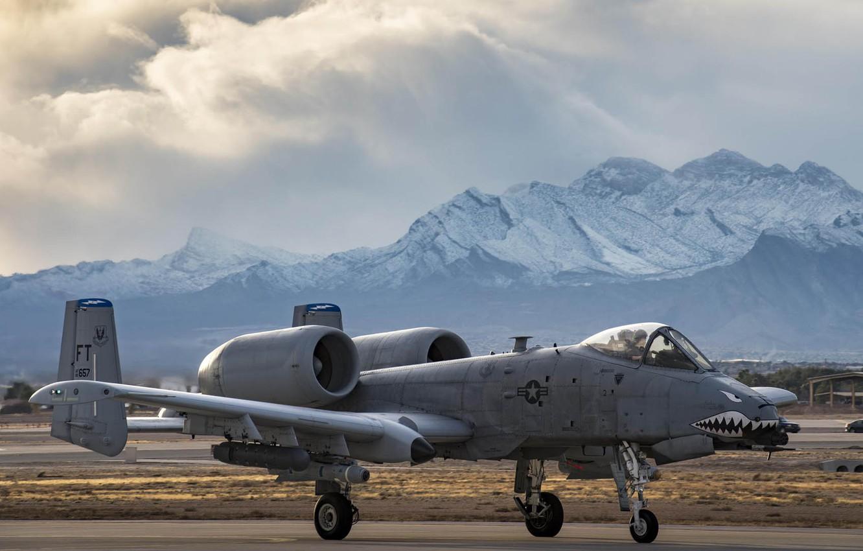 Обои thunderbolt ii, A-10, штурмовик. Авиация foto 11