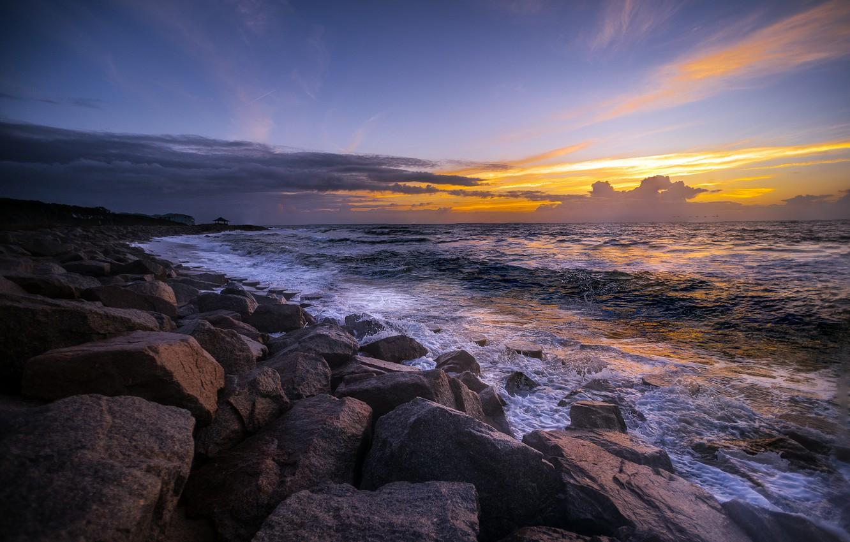 Обои утро, побережье. Пейзажи foto 6