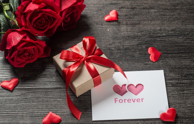 Фото обои любовь, подарок, сердце, розы, букет, красные, red, love, romantic, hearts, Valentine's Day, gift, valentine, roses