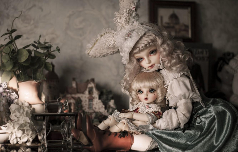 Обои платье, Кукла, барышня. Разное foto 8
