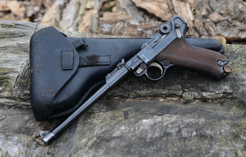 Фото обои кобура, Парабеллум, Пистолет Люгера