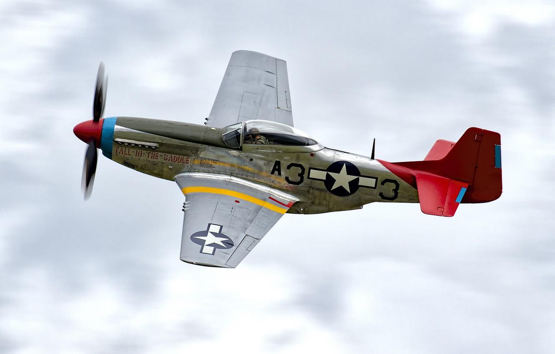 Обои дальний, одноместный, P-51c mustang, американский. Авиация foto 17