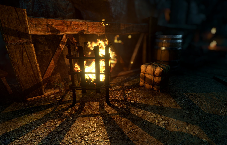 Фото обои Ночь, Огонь, Ведьмак, The Witcher, The Witcher 3 Wild Hunt, Ведьмак 3 Дикая Охота, Ведьмак …