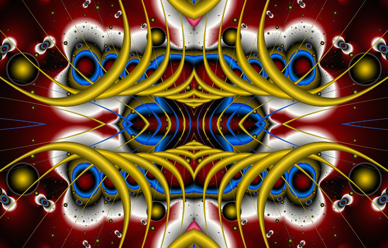 Фото обои фантазия, узоры, симметрия