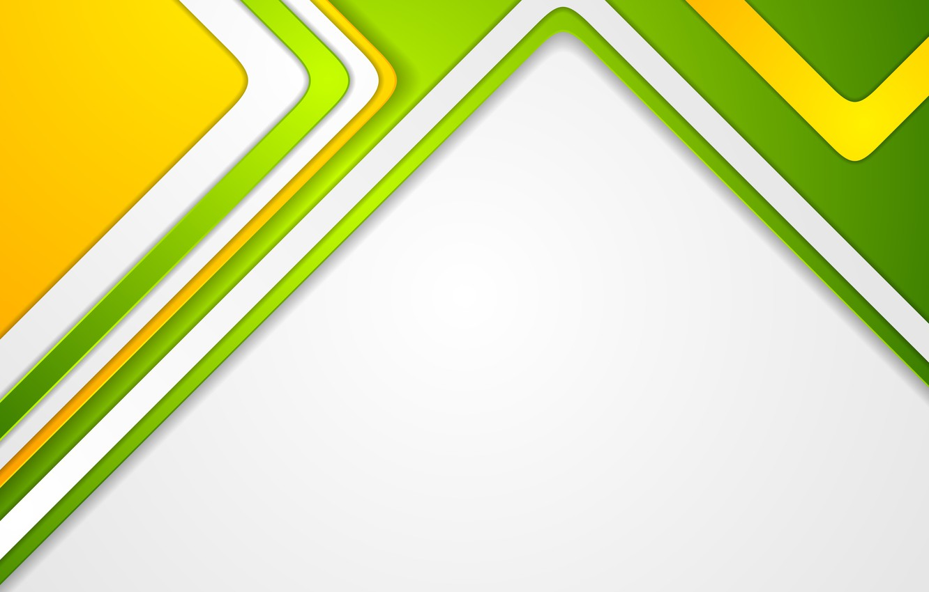 Фото обои линии, абстракция, green, vector, colorful, abstract, геометрия, design, yellow, bright, geometric, backgound