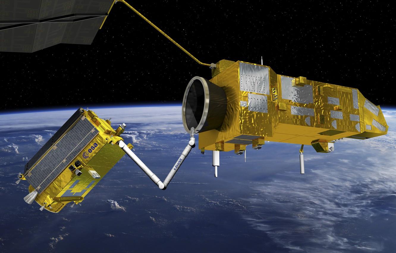 Фото обои Technology, Deorbit mission, Space debris