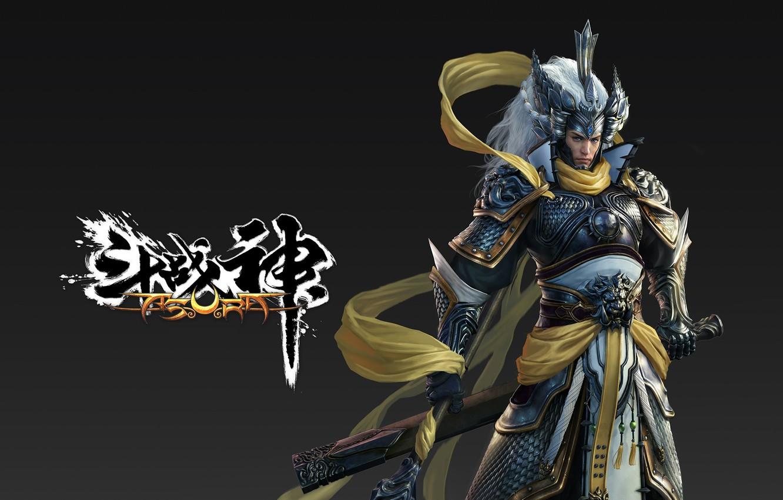 Фото обои оружие, меч, воин, арт, уровень, lvl, asura online, Chinese Game Industry
