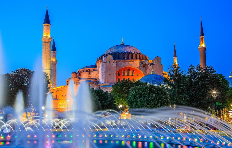 Обои стамбул, фонтан, турция, мечеть, Вода, мечеть султанахмет. Города foto 15