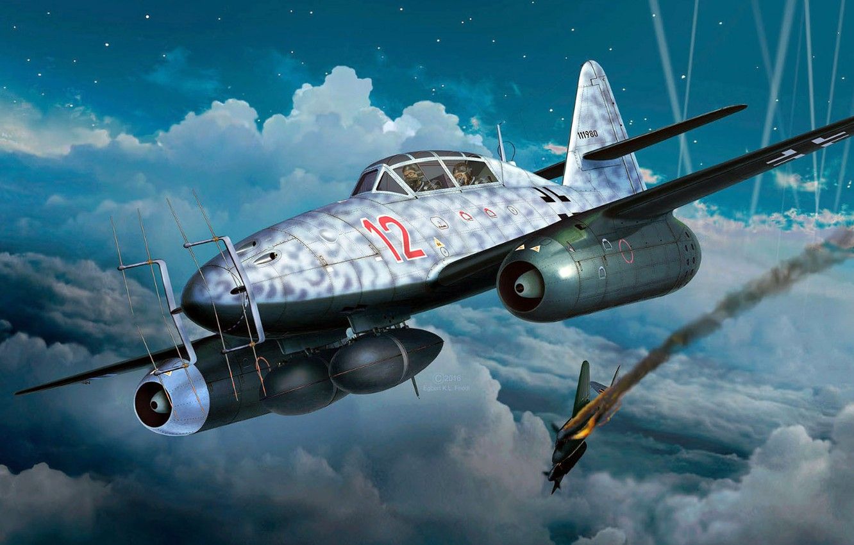 Фото обои Messerschmitt, Schwalbe, двухместный ночной истребитель-перехватчик, Me.262B-1a/U1
